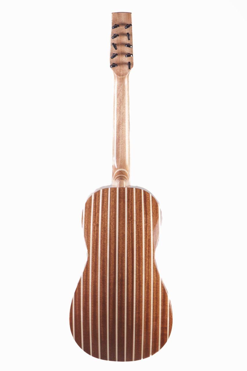 Il retro della chitarra battente