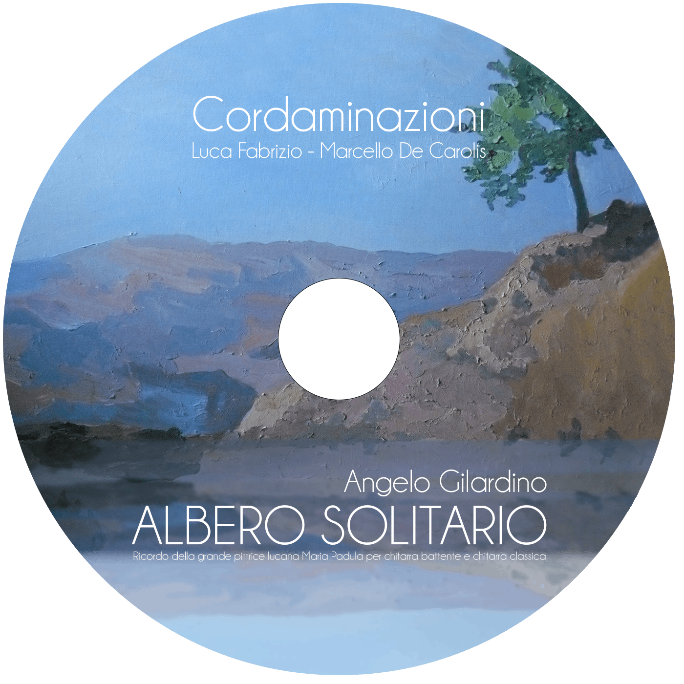 La Discografia di Marcello de Carolis: chitarrista specializzato in Chitarra Classica e Chitarra Battente: Album albero Solitario e Album Cordaminazioni