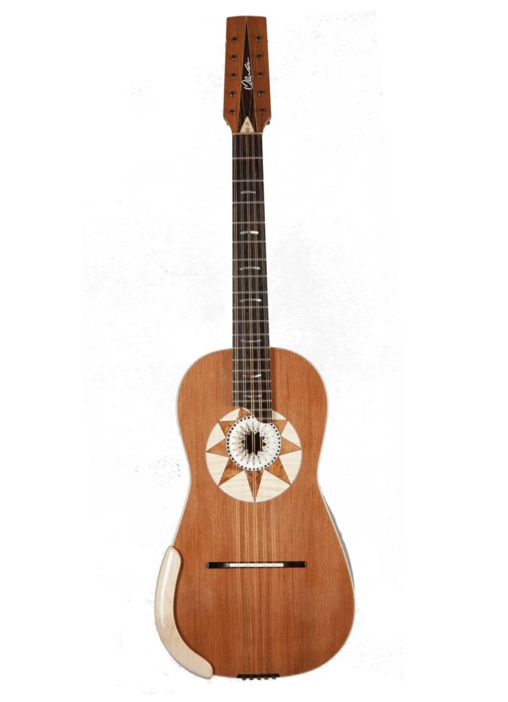 La chitarra battente vista frontalmente