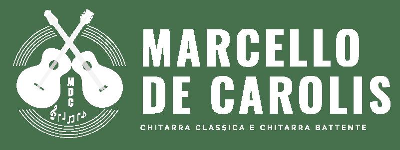 Logo png di Marcello De Carolis chitarra battente e chitarra classica