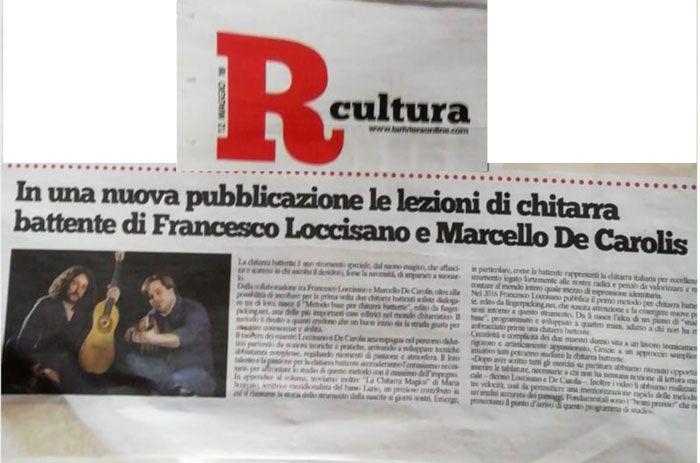 Pubblicazione sul quotidiano La Riviera dell'articolo su