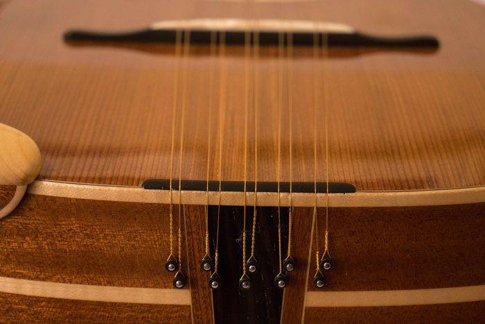 Attacco delle corde della chitarra battente Oliver