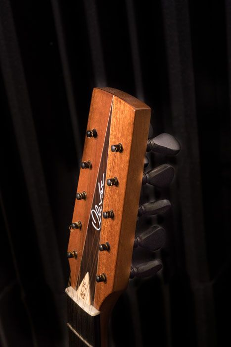 La paletta con i piroli della chitarra battente