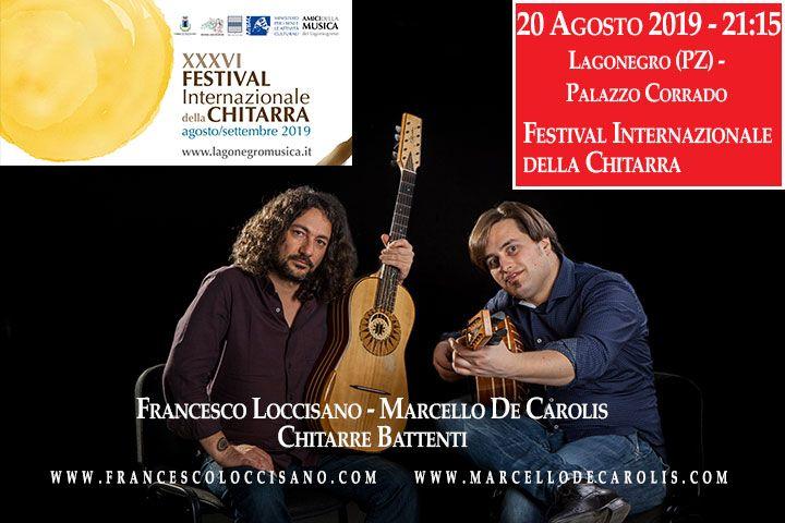 Festival internazionale della chitarra di Lagonegro - Concerto di chitarra battente di Francesco Loccisano e Marcello De Carolis