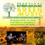 Festival Internazionale Green Music 2019 concerto del duo Cordaminazioni