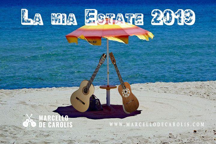 Estate 2019 di Marcello De Carolis i concerti con chitarra battente e chitarra classica