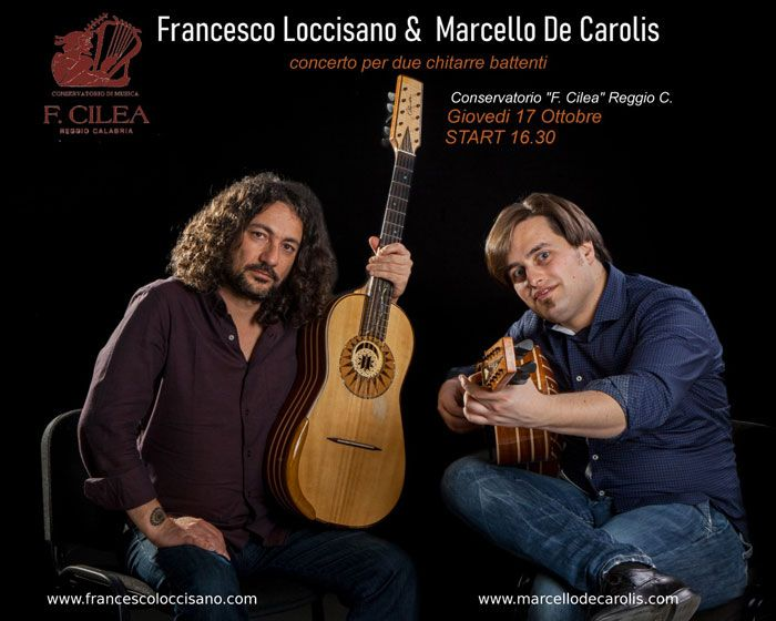 Concerto di Chitarra Battente del duo Loccisano - De Carolis presso il conservatorio di musica F. Cilea di Reggio Calabria