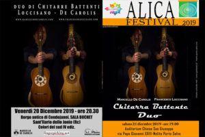 I Concerti del 20 e 21 Dicembre del duo di Chitarra Battente Loccisano - De Carolis a Sant'Ilario dello Jonio e Melito di Porto Salvo in provincia di Reggio Calabria