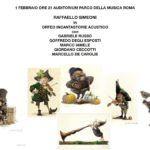 Raffaello Simeoni in concerto presso l'auditorium parco della musica di Roma con Gabriele Russo Goffredo Degli Esposti Marco Iamele Giordano Ceccotti e Marcello De Carolis