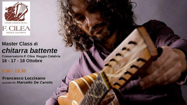 Masterclass di Chitarra Battente al conservatorio Cilea di Reggio Calabria con Francesco Loccisano e Marcello De Carolis