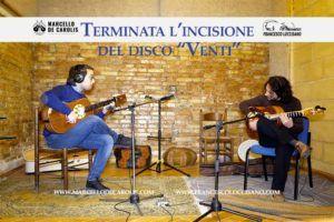 Terminata incisione del disco venti per duo di chitarra battente di Francesco Loccisano e Marcello De Carolis