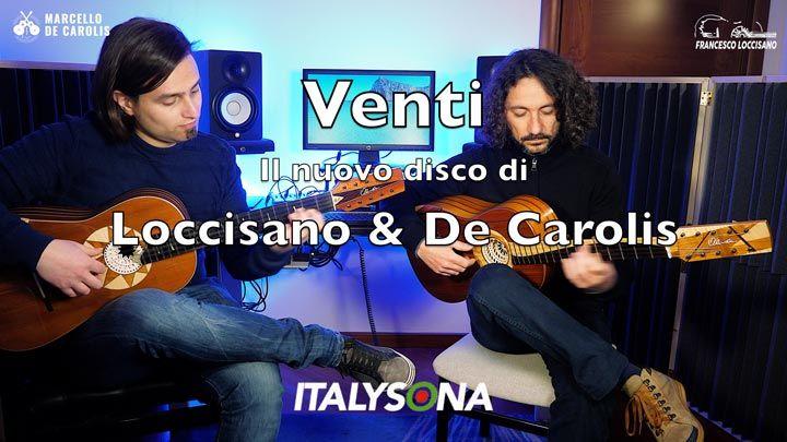 Il bacio brano del nuovo disco Venti del duo di chitarra battente Loccisano De Carolis