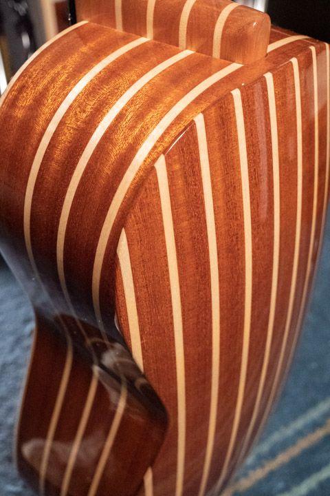 Fasce e fondo della chitarra battente costruita da Sergio Pugliesi di Scilla per Marcello De Carolis