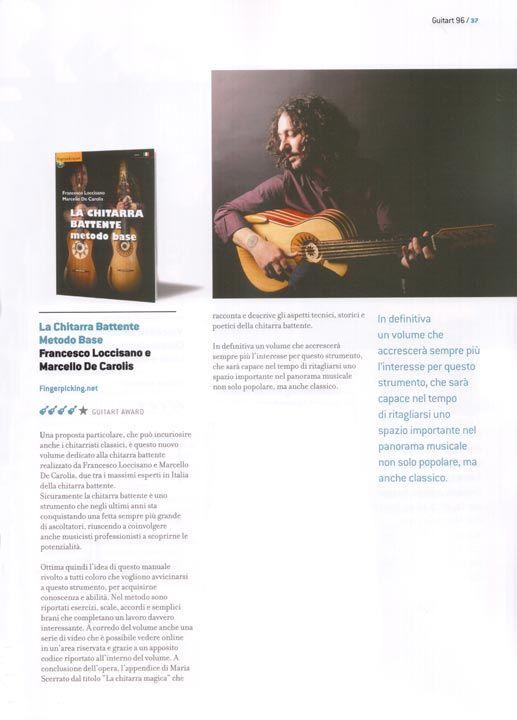 La recensione GuitArt su la Chitarra Battente - Metodo Base scritto da Francesco Loccisano e Marcello De Carolis