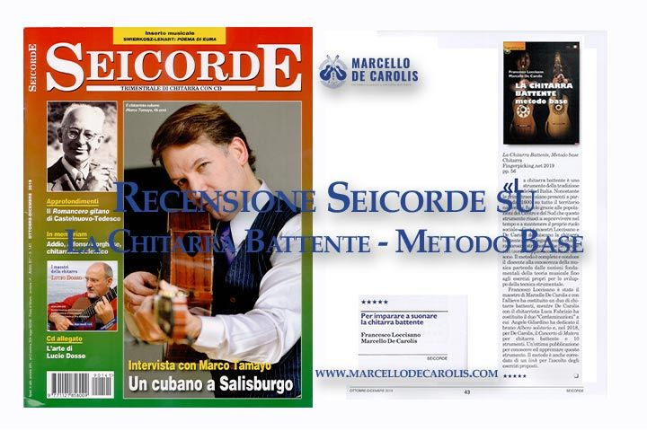 Recensione seicorde su la chitarra battente - metodo base scritto da Francesco Loccisano e Marcello De Carolis ed edito da fingerpicking.net