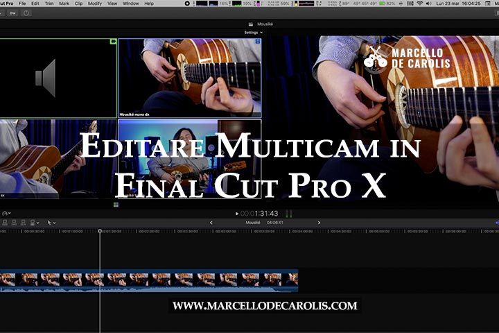 editare multicam Final Cut Pro x