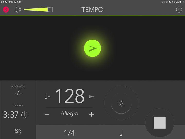 metronomo iPad app tempo