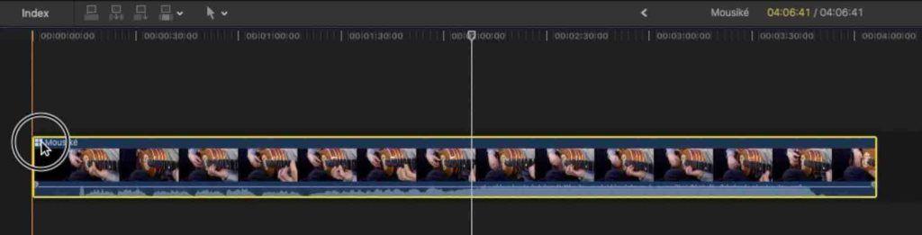 Aprire la multicam per visualizzare tutte le clip che la compongono