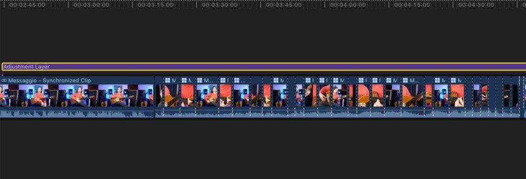 Color correction multicam clip con adjustment layer Final Cut Pro x