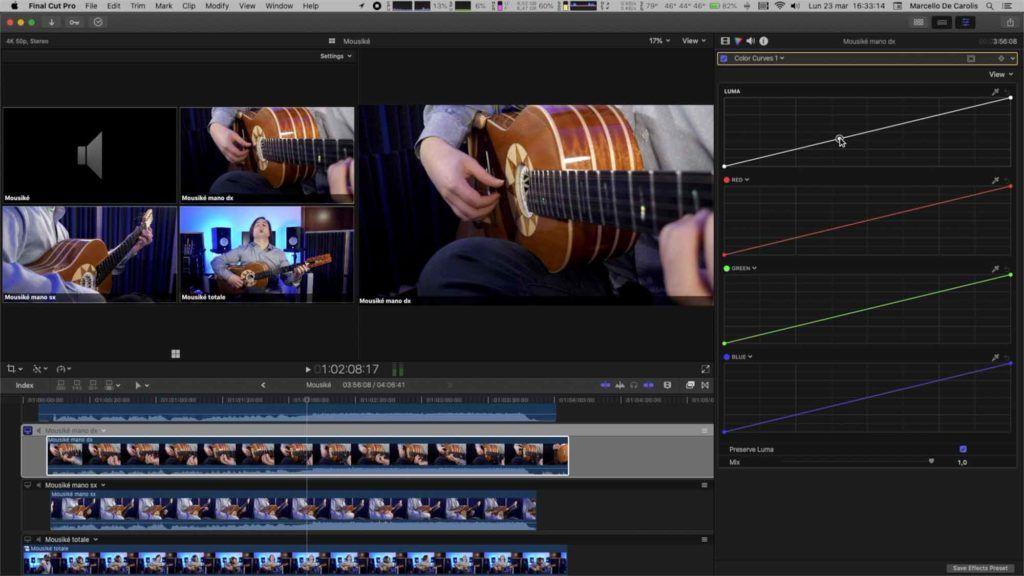 Color correction multicam per singola clip con Final Cut Pro x