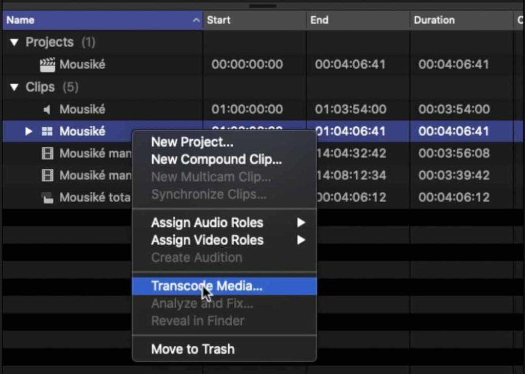creazione file proxy media Final Cut Pro x