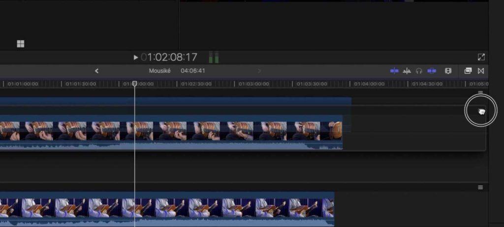 spostare clip della multicam nell'ordine preferito