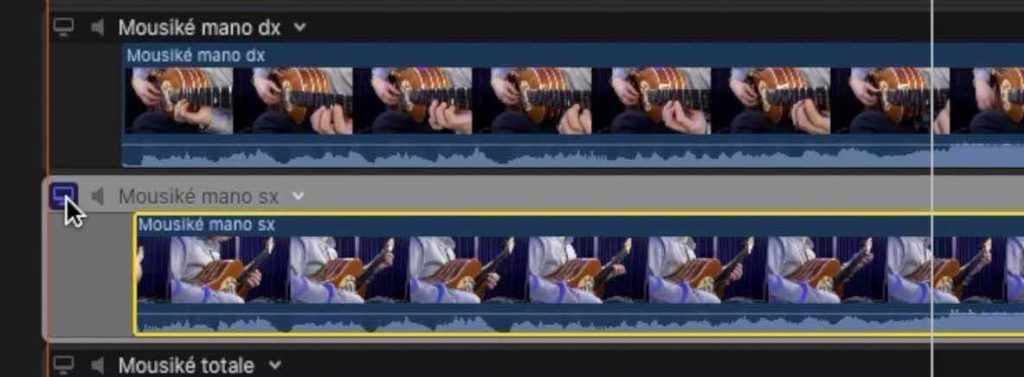 visualizzazione momentanea singola clip multicam Final Cut Pro x