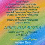 Concerto chitarra e violino a Potenza di Marcello De Carolis e Massimo Rosa