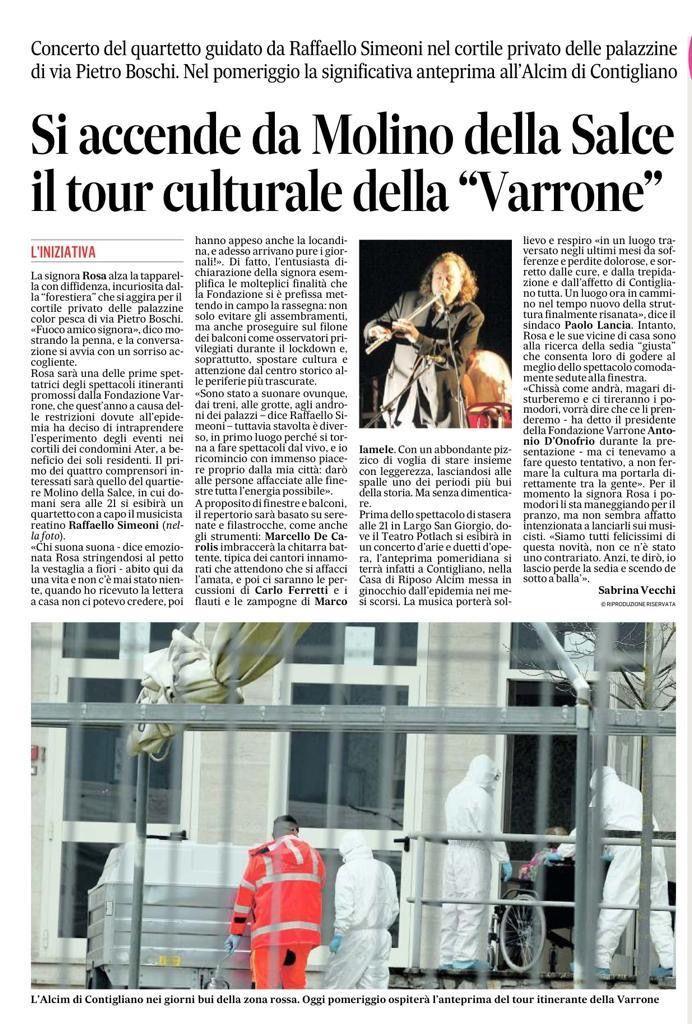 Concerto Raffaello Simeoni a Rieti 4 Luglio 2020