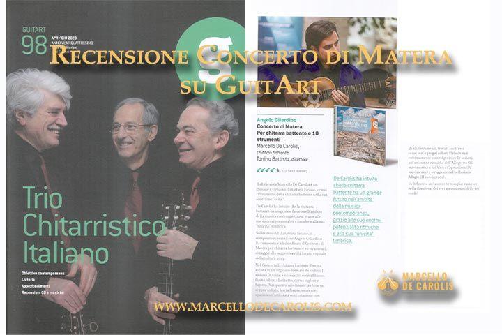 Recensione Concerto di Matera sulla rivista chitarristica GuitArt