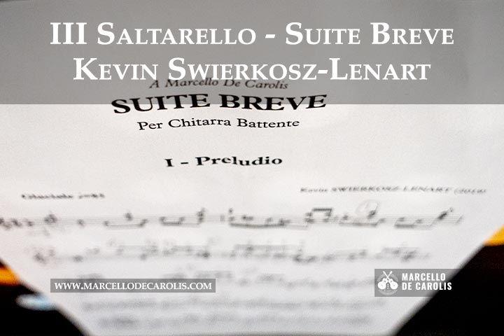 Saltarello di Kevin Swierkosz-Lenart per chitarra battente sola nell'incisione di Marcello De Carolis