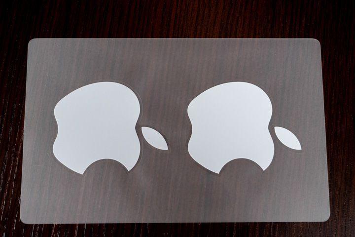adesivo del logo apple della mela morsicata
