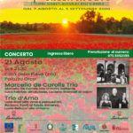 Concerto a città della Pieve di chitarra battente il 21 agosto di Marcello De Carolis trio per il festival internazionale Green Music