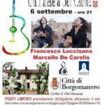 Un paese a sei corde 2020 - concerto del duo di chitarra battente Loccisano De Carolis - 6 settembre 2020 a Borgomanero