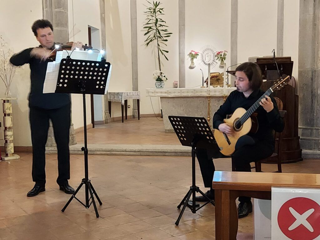 Concerto di chitarra e violino con i maestri Marcello De Carolis e Massimo Rosa