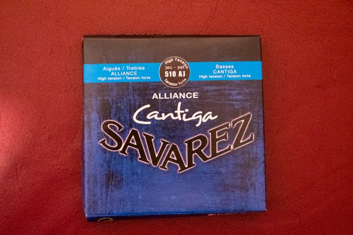 Le corde savarez alliance cantina blu per chitarra classica