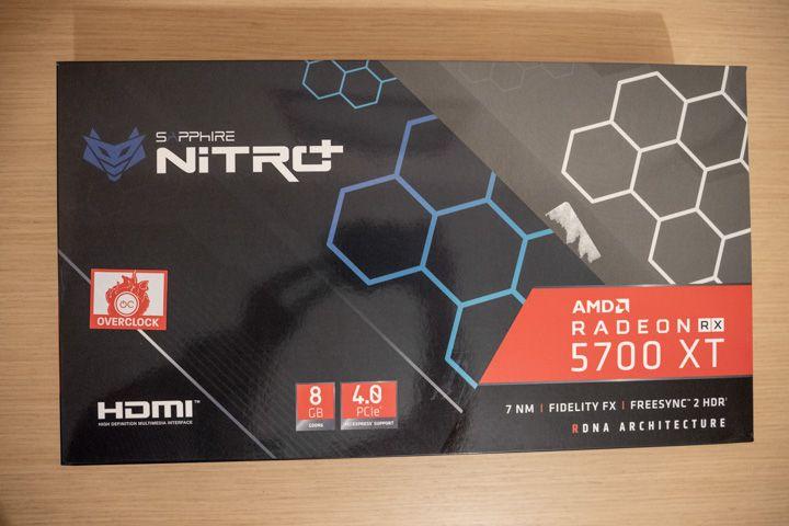 scatola amd radeon 5700 xt sapphire nitro +