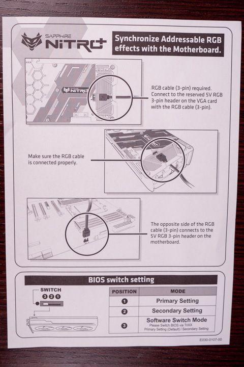 manuale per la sincronizzazione RGB della sapphire nitro + amd radeon 5700 xt
