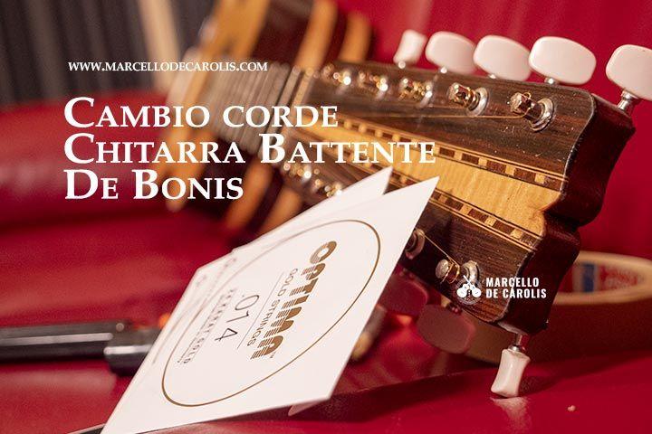 Il cambio corde per la chitarra battente De Bonis