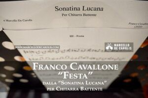 Franco Cavallone - Festa - Sonatina Lucana per chitarra battente sola
