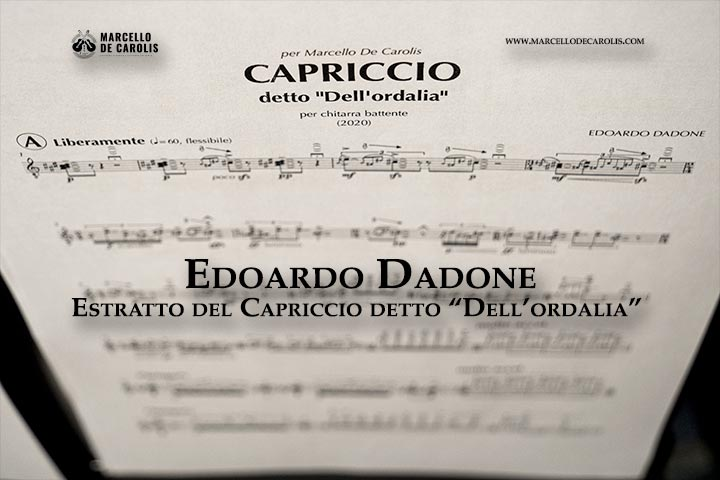 Edoardo Dadone - Capriccio detto dell'Ordalia per chitarra battente