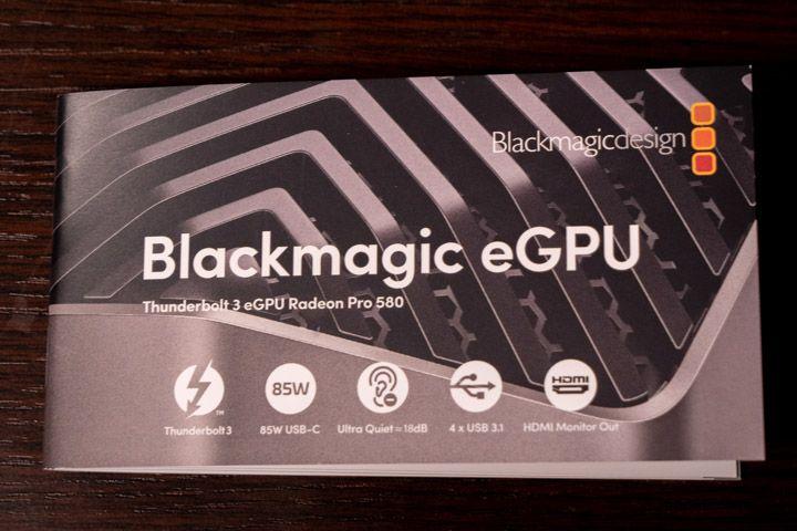 Manuale di istruzione eGpu Blackmagic