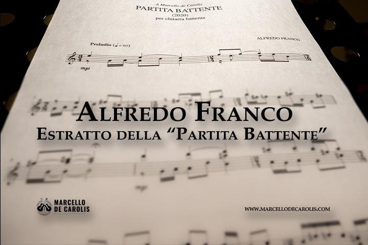 Alfredo Franco estratto della Partita Battente per Chitarra Battente