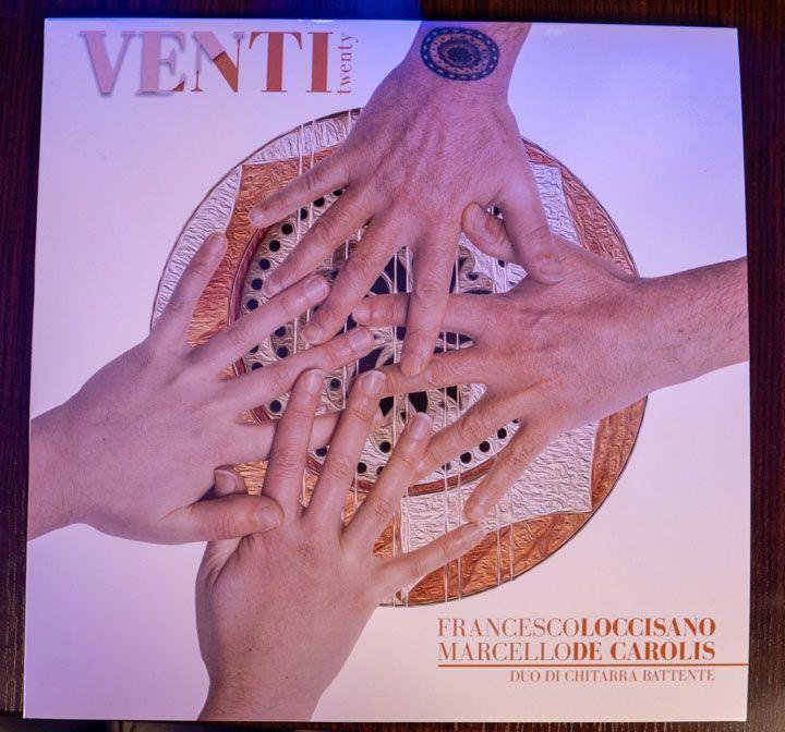 Copertina del vinile del disco Venti per duo di chitarra battente Loccisano De Carolis