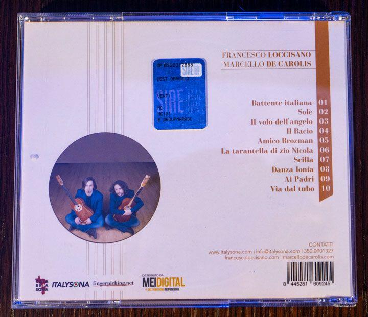 Tracklist disco Venti da CD