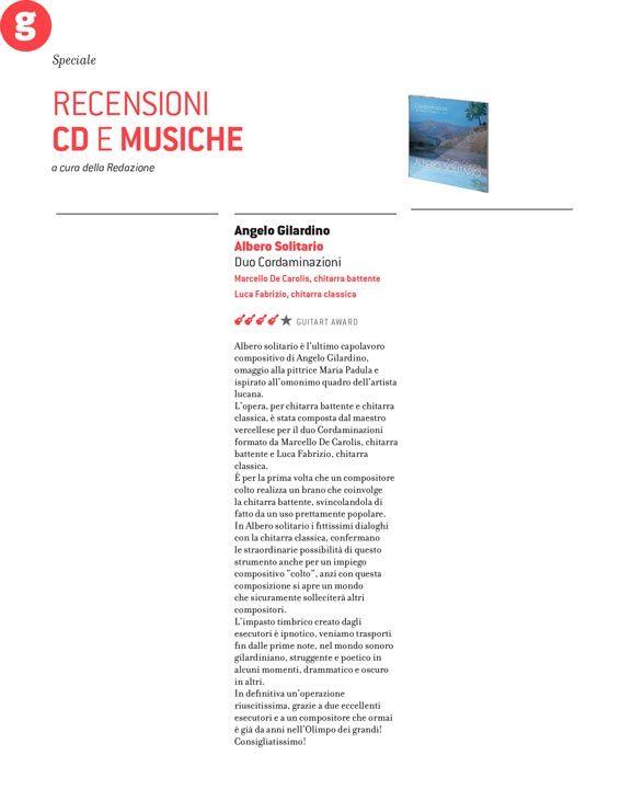 Albero Solitario di Angelo Gilardino recensito da GuitArt