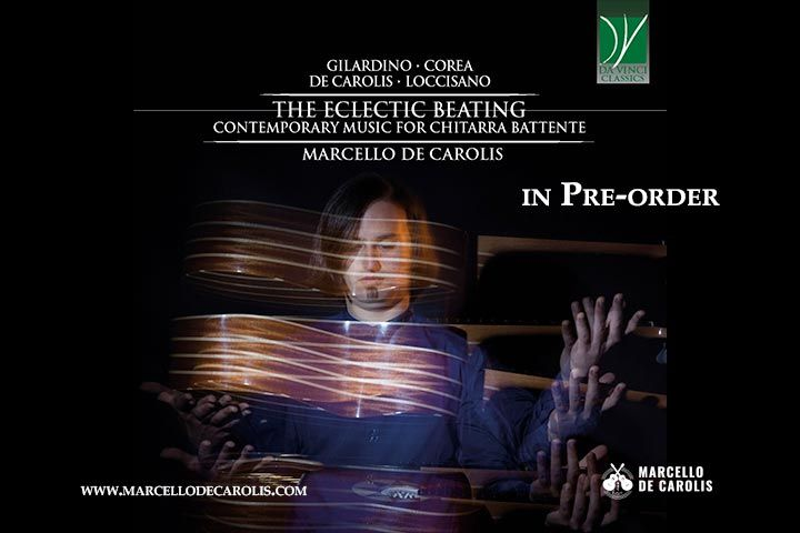 Pre-order The Ecleting Beating - contemporary music for chitarra battente di Marcello De Carolis pubblicato da Da Vinci Classics