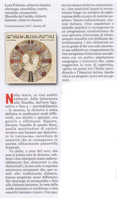 recensione di seicorde sul disco cordaminazioni di Luca Fabrizio e Marcello De Carolis