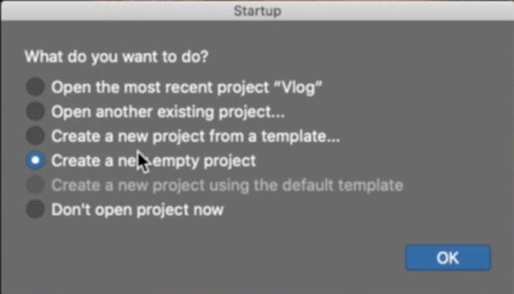 creare un nuovo progetto su Logic Pro x