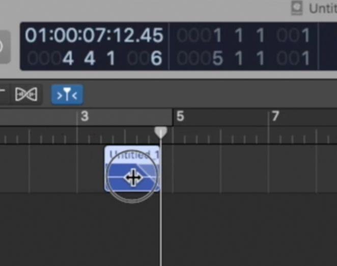 Mouse che fa fade in Logic Pro x